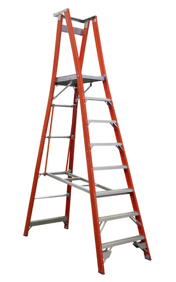 Indalex Pro Series Fibreglass Platform Ladder 8ft 2 4 M