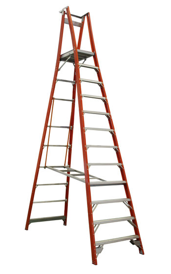 Indalex Pro Series Fibreglass Platform Ladder 12ft 3 6 M