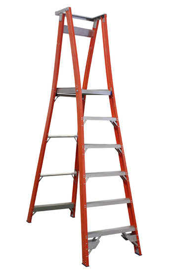 Indalex Pro Series Fibreglass Platform Ladder 6ft 1 8 M